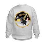 Night Flight/Pug (black) Kids Sweatshirt