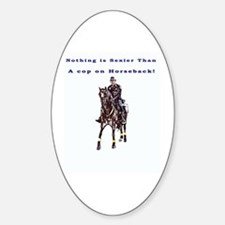 Horseback Oval Decal