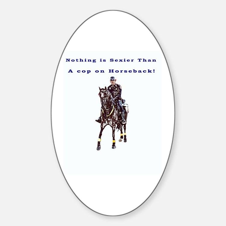 Horseback Oval Decal