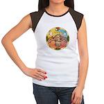 XmasMusic2/Dachshund (WH)#11 Women's Cap Sleeve T-