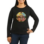 XmasMusic2/Dachshund (WH)#11 Women's Long Sleeve D