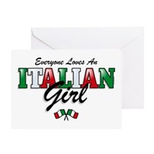 Love Italian Girls Greeting Card