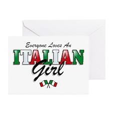 Love Italian Girls Greeting Cards (Pk of 20)