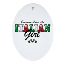 Love Italian Girls Oval Ornament
