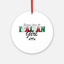 Love Italian Girls Ornament (Round)