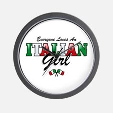 Love Italian Girls Wall Clock