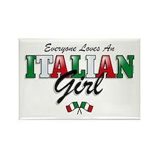 Love Italian Girls Rectangle Magnet