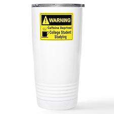 Caffeine Warning College Travel Mug