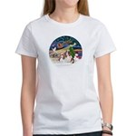 XmasMagic/2 Cavaliers Women's T-Shirt