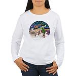 XmasMagic/2 Cavaliers Women's Long Sleeve T-Shirt