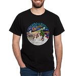 XmasMagic/2 Cavaliers Dark T-Shirt
