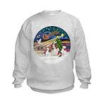 XmasMagic/2 Cavaliers Kids Sweatshirt