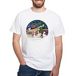 XmasMagic/2 Cavaliers White T-Shirt