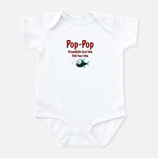 Pop-Pop - Fish fear him Infant Bodysuit