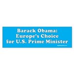 Europe doesn't vote here Bumper Sticker (50 pk)