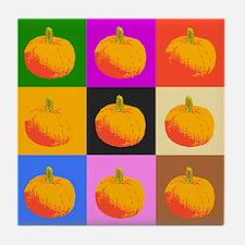 Pop Art Pumpkins Tile Coaster