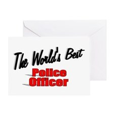 """The World's Best Police Officer"" Greeting Card"