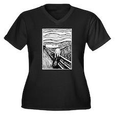 Munch's The Scream Women's Plus Size V-Neck Dark T