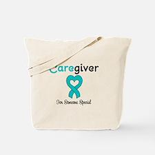 Caregiver Teal Ribbon Tote Bag