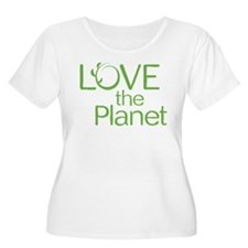 Love the Planet Plus Size T-Shirt (Scoop Neck)