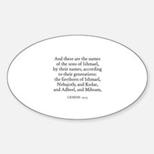 GENESIS 25:13 Oval Decal