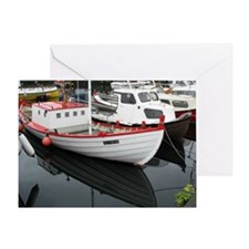 Boat Reflections - Greeting Card