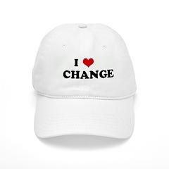 I Love CHANGE Baseball Cap