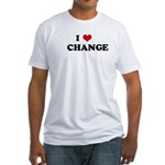 I Love CHANGE Fitted T-Shirt