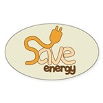 Save Energy Oval Stickers (10 pk)