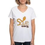 Save Energy Women's V-Neck T-Shirt