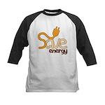 Save Energy Kids Baseball Jersey