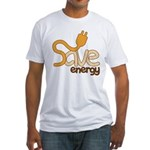 Save Energy Men's Fitted T Shirt