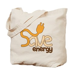 Save Energy Tote Bag