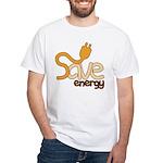 Save Energy Tee Shirt (White)
