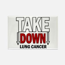 Take Down Lung Cancer 1 Rectangle Magnet