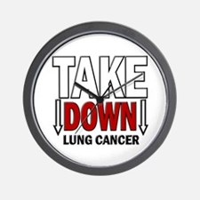 Take Down Lung Cancer 1 Wall Clock