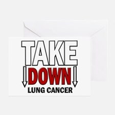 Take Down Lung Cancer 1 Greeting Card