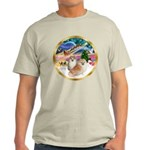 XmasMagic/2 Pomeranians Light T-Shirt