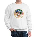 XmasMagic/2 Pomeranians Sweatshirt