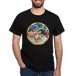 XmasMagic/2 Pomeranians Dark T-Shirt