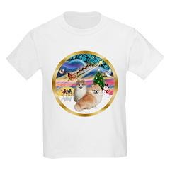 XmasMagic/2 Pomeranians T-Shirt