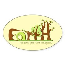 Save Earth Oval Bumper Decal