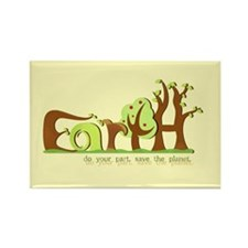 Save Earth Rectangle Magnets (100 pk)