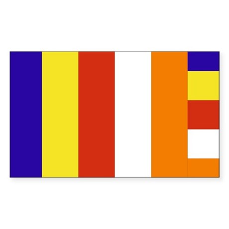 Buddhist Flag Rectangle Sticker