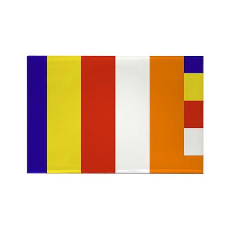 Buddhist Flag Rectangle Magnet (10 pack)