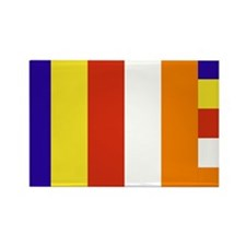 Buddhist Flag Rectangle Magnet