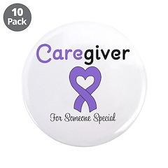 Caregiver Purple Ribbon 3.5