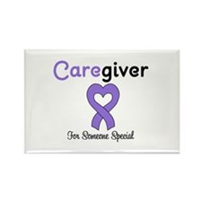 Caregiver Purple Ribbon Rectangle Magnet