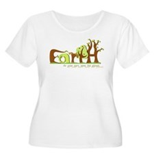 Save Earth Plus Size T-Shirt (Scoop Neck)
