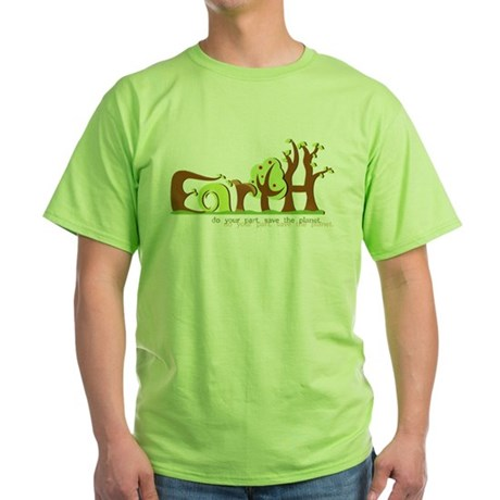 Save Earth T-Shirt (Green)